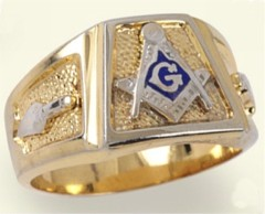 3rd Degree Blue Lodge Masonic Ring 10KT OR 14KT, Solid Back  #16