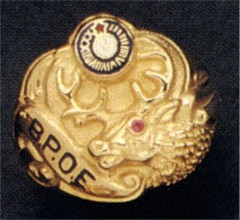 B.P.O.E. Elks Rings 10KT or 14KT Gold, Open or Solid Back, Yellow or White Gold #3107