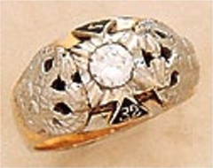 Scottish Rite Rings, 10 KTor 14KT ,Solid Back, 14 and 32ND DEGREE, #1201