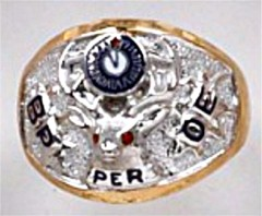 B.P.O. ELKS Rings 10K or 14K, Open or Solid Back, Past Exalted Ruler #3101