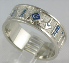 3rd Degree Blue Lodge Masonic Rings, 10KT or 14KT Yellow or White Gold #702A