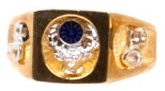 B.P.O.E. ELKS Ring 10KT or 14KT,Yellow or White Gold Open or Solid Back #3105