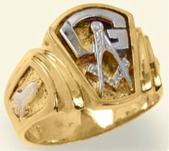 3rd Degree Blue Lodge Masonic Ring 10KT OR 14KT, Solid Back #14