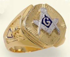3rd Degree Blue Lodge Masonic Ring 10KT OR 14KT, Hollow Back #20