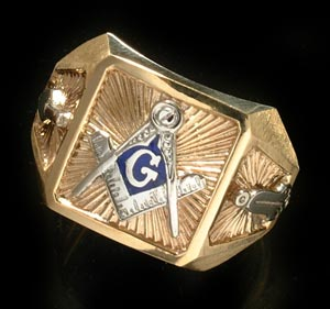 3rd Degree Blue Lodge Masonic Ring 10KT OR 14KT, Solid Back #32