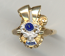 Ladies BPOE Elks Ring 10KT or 14KT Yellow or White Gold #3109