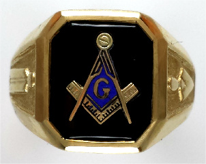Wefferling Berry Masonic Rings 3A