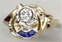 Ladies PER or BPOE ELks Ring 10KT or 14KT Gold #3111