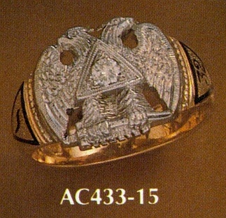 Wefferling Berry Scottish Rite Ring, Solid Back #6