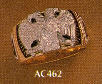 Wefferling Berry Scottish Rite Ring, Solid Back #8