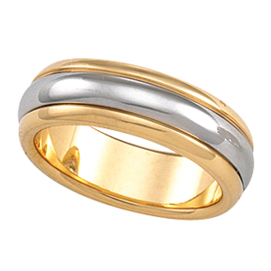18KT Yellow Gold and Platinum Wedding Band #3