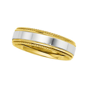 14KT Yellow and White Gold Wedding Band #1