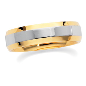 18KT Yellow Gold and Platinum Wedding Band #4