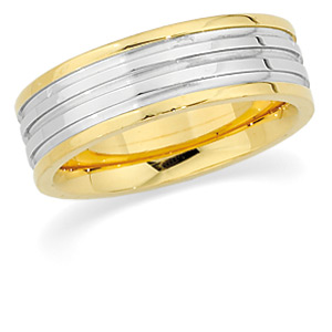 18KT Yellow Gold and Platinum Wedding Band #5