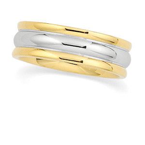 18KT Yellow Gold and Platinum Wedding Band #6
