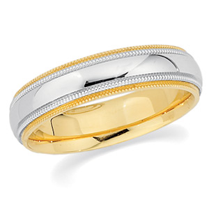 18KT Yellow Gold and Platinum Wedding Band #7