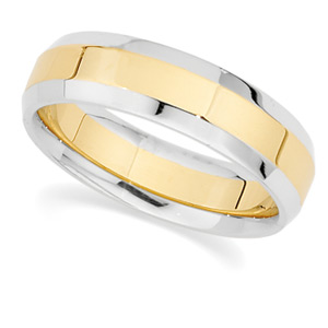 14KT Yellow and White Gold Wedding Band #2