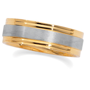 18KT Yellow Gold and Platinum Wedding Band #9