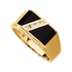 Black Onyx Ring Collection