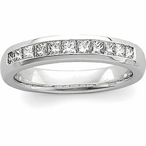 Men&#39s Princess-Cut Diamond Band #26