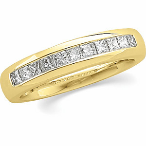 Men&#39s Princess-Cut Diamond Band #27