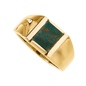 Men&#39s Genuine Bloodstone Ring 14KT #2