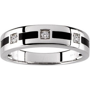 Men's Onyx & 1/6 ct tw Diamond Band #25