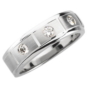 Men&#39s 1/3 ct tw Diamond Tapered Band #20