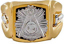 Masonic Past Master Rings, 10KT or 14KT GOLD, White or Yellow Gold,Hollow Back or Solid Back #1004