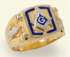 3rd Degree Blue Lodge Masonic Ring 10KT OR 14KT, Solid Back  #3