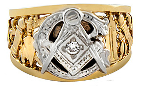 #104A 3rd Degree Masonic Blue Lodge Ring 10KT OR 14KT  Hollow Back