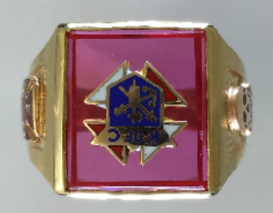 Knights of Columbus Rings, 3rd Degree,10KT or 14KT Gold, Open Back  #1