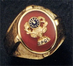 B.P.O. ELKS Rings, 10KT or 14KT, Open or Solid Back, Yellow or White Gold #3104