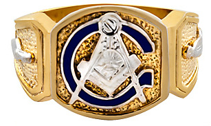 3rd Degree Blue Lodge Masonic Ring 10KT OR 14KT, Solid Back  #7