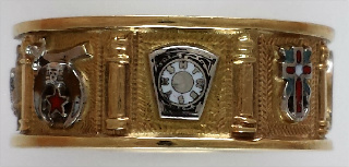 Scottish Rite/York Rite/Shrine Ring 10KT or 14KT White or Yellow Gold #1134