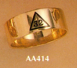 Wefferling Berry Scottish Rite Ring #15