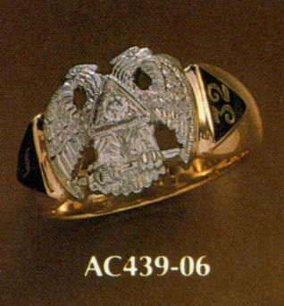 Wefferling Berry Scottish Rite Ring, Solid Back #2
