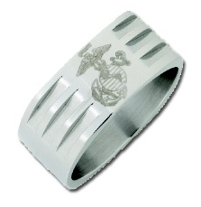 Stainless Steel Military Ring #5