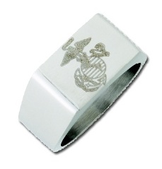 Stainless Steel Military Ring #3