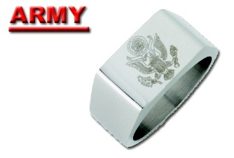 Stainless Steel Military Ring #8
