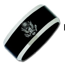 Stainless Steel Military Ring #10