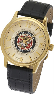 Marine Corp Watch, Gold Plated Bulova #4