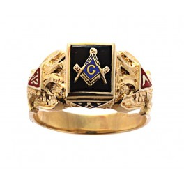 3RD DEGREE BLUE LODGE MASONIC RING 10K OR 14K  Open or Solid Back #519
