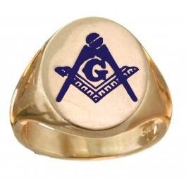 3rd Degree Blue Lodge Masonic Ring 10KT or 14KT YELLOW OR WHITE Gold, Solid Back    #422