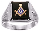 Gothic Sterling Silver Masonic Rings #20G