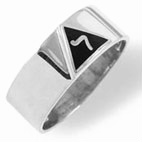 Sterling Silver 14th Degree Masonic Ring #13G