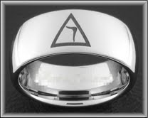 14th Degree Tungsten Masonic Ring #28