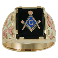 Coleman Black Hills Gold Masonic Rings