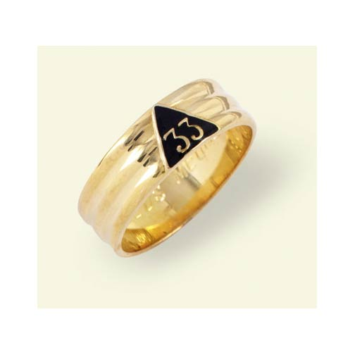 33RD DEGREE MASONIC RING MEDIUM WEIGHT 10KT or 14KT  #1602
