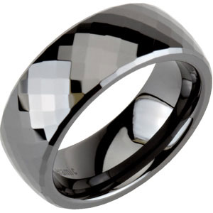 8.0mm Ceramic Couture™ Faceted Band #51